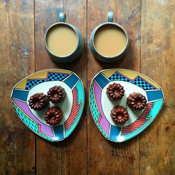 美味しさ2倍!毎日シンメトリーな朝食写真シリーズ (17)