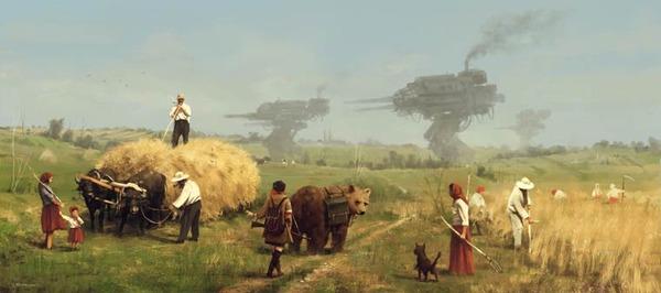 レトロな時代背景に機械的なSF要素。戦争を描いた空想世界 (11)