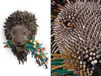 ギンギラギン!空の薬莢(やっきょう)からなる野生動物の彫刻