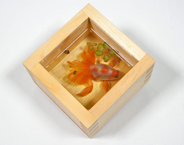 立体的で本物みたい!日本人が描く金魚すくいの絵が凄い (7)