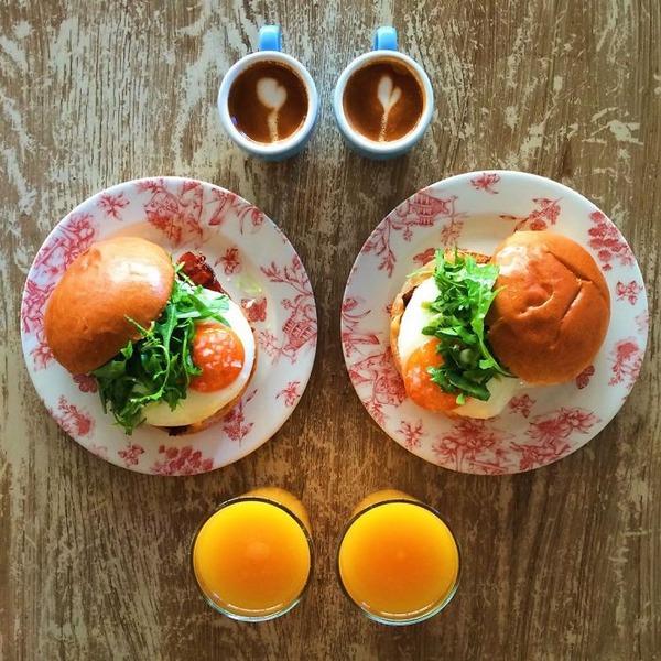 美味しさ2倍!毎日シンメトリーな朝食写真シリーズ (5)