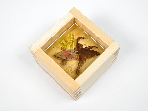 立体的で本物みたい!日本人が描く金魚すくいの絵が凄い (8)