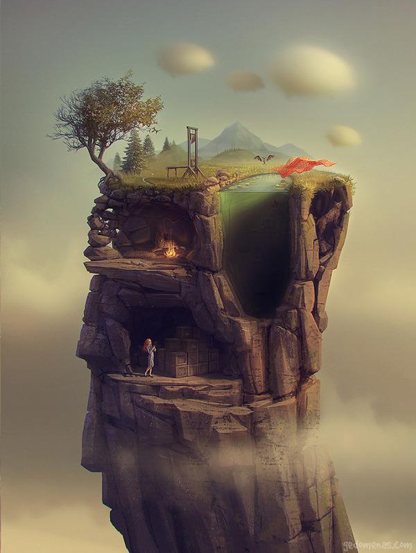 不思議な地球のイラストアート 4