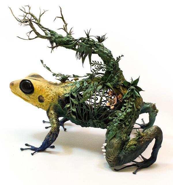 動物と植物が融合した幻想的な彫刻!Ellen Jewettの新作紹介 (8)