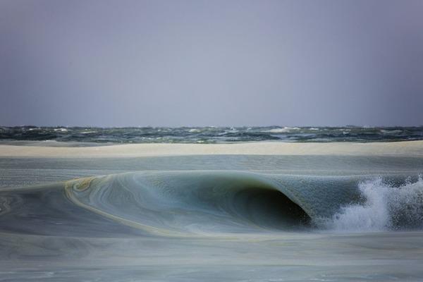 さらに数度低い時、波は動いてなかった