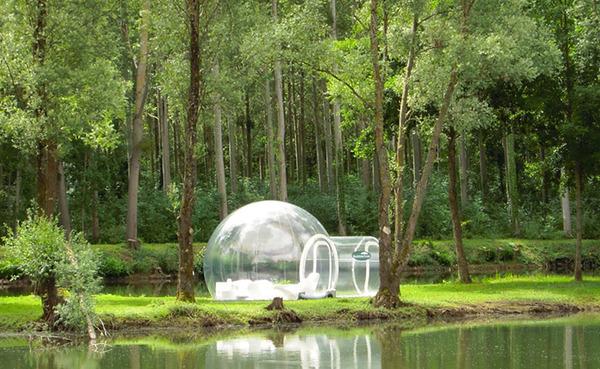 ホイポイカプセルみたいな即席テントで一泊!『Bubble Tent』 (4)