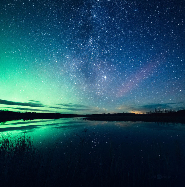 綺麗すぎ!フィンランドの夜空、満天の星空の写真 (2)