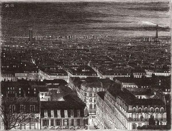 超精密!記憶を頼りに世界の都市景観を描くモノクロ絵画 (10)