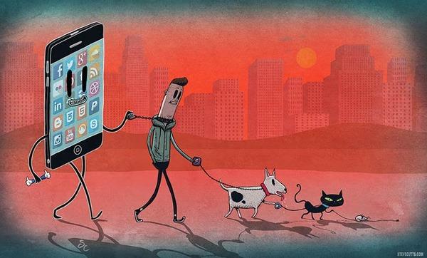 現代社会の悲しい現実を風刺的に描くユニークなイラスト (8)