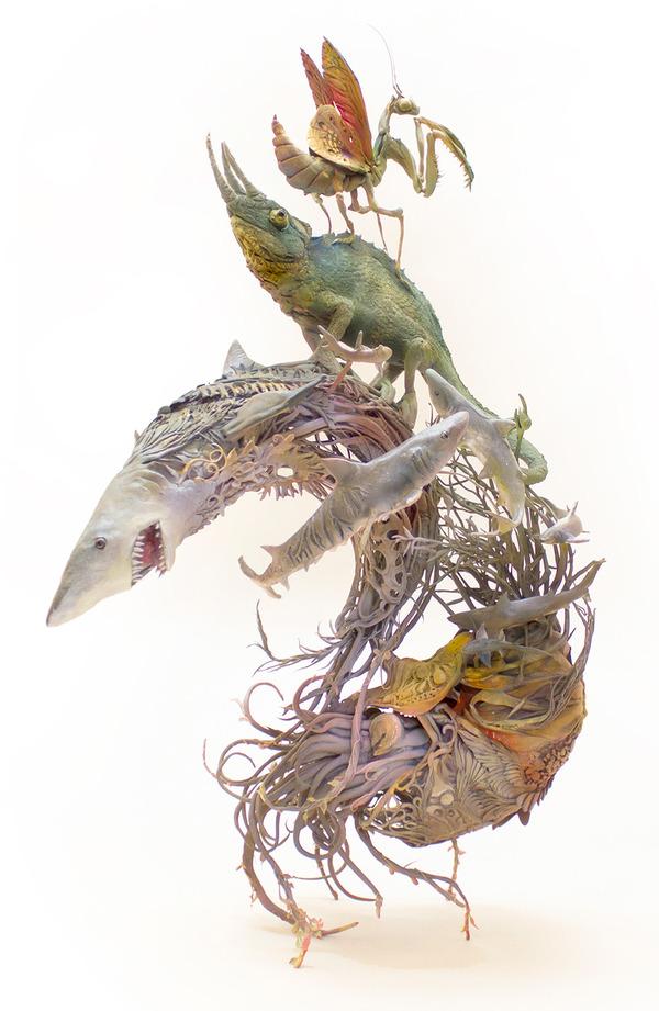 動物と植物が融合した幻想的な彫刻!Ellen Jewettの新作紹介 (11)