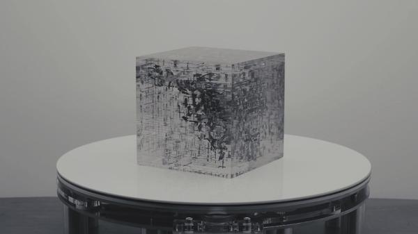 隠された絵が浮かび上がる!アナモルフィックな立方体 (7)