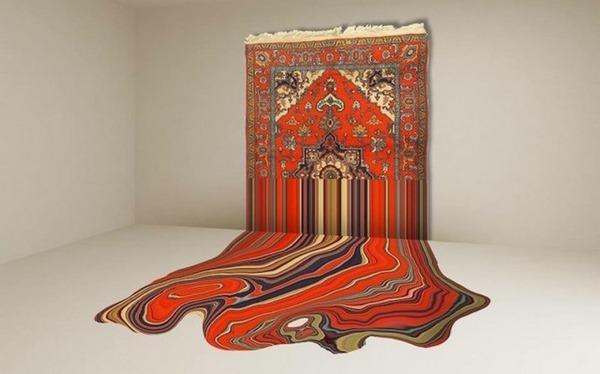 歪む、溶ける、飛び出す!不思議な形をした絨毯 (3)
