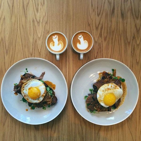 美味しさ2倍!毎日シンメトリーな朝食写真シリーズ (6)