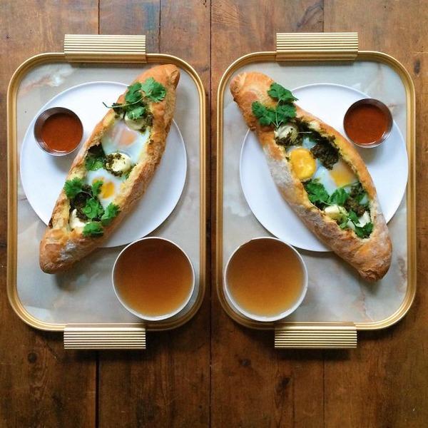 美味しさ2倍!毎日シンメトリーな朝食写真シリーズ (20)