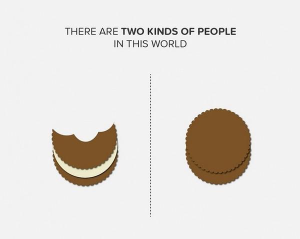 二種類の人間。シンプルなカラーイラストで表現 (11)