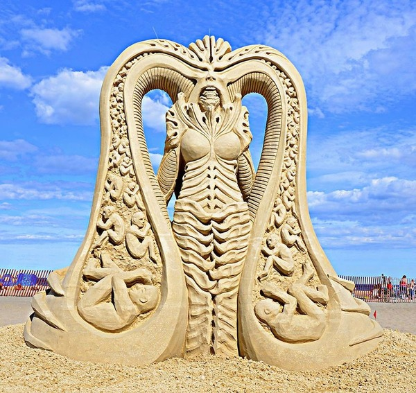 砂の彫刻コンテスト ハンプトン・ビーチ (3)