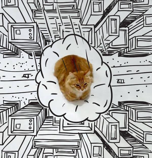 才能の無駄遣い?香箱座りの猫の画像にみんなで落書き! (11)
