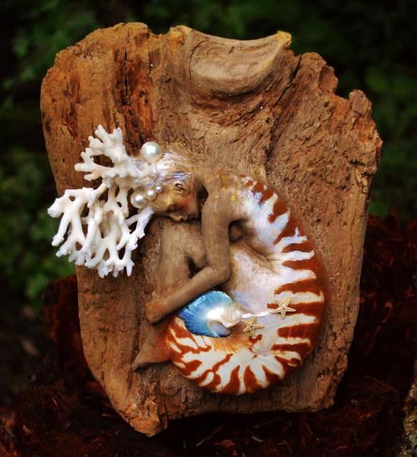 ロマサガのボスっぽい…流木に宿る女性彫刻! (5)