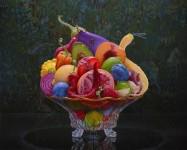 超鮮やか!油絵具で描かれた色彩豊かな果物や野菜の静物画