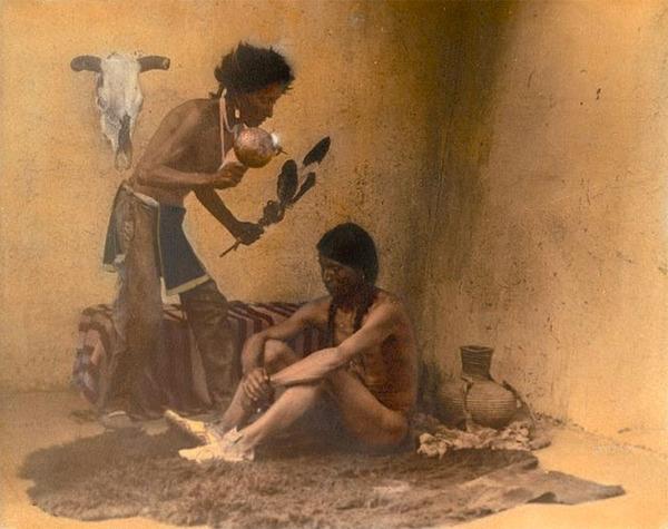 インディアン(ネイティブ・アメリカン)の貴重なカラー化写真 (27)