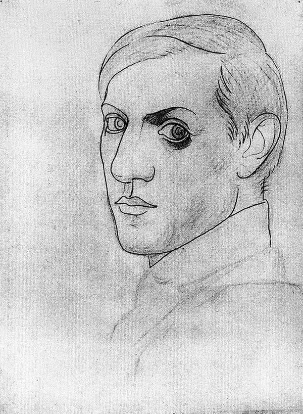 ピカソの自画像!15歳から90歳までの肖像画 (9)
