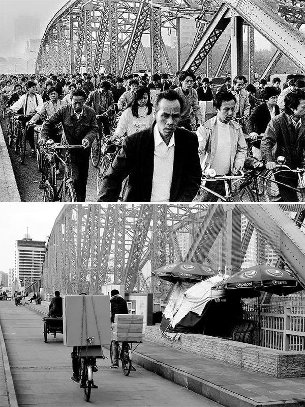 発展した中国の都市風景を比較!過去と現在の画像100年 (10)