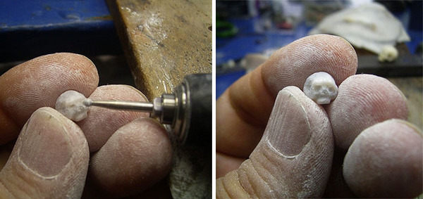 歯もあるよ!日本人デザイナーによる真珠の頭蓋骨 (11)