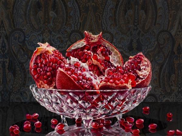 色鮮やかな果物と野菜の静物画,油絵 エリック・ワート