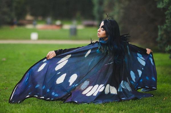 蝶の羽根模様のスカーフデザイン (5)