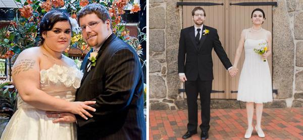 【比較画像】太ったカップルが痩せた (2)