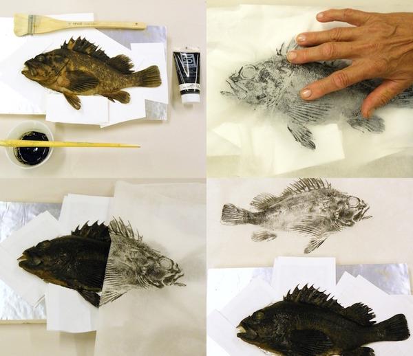 日本文化『魚拓』で描かれる海外アーティストによる絵画作品 (14)