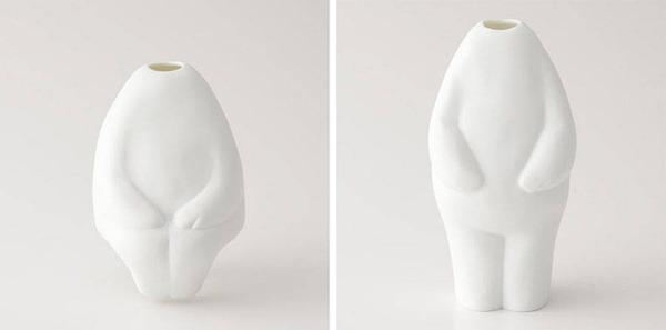 一輪の花を飾るための人型花瓶『フラワーマン』 (7)