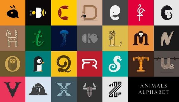 可愛い動物のアルファベット animals alphabet