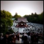 ミニチュアジオラマ風の東京の写真!チルトシフト