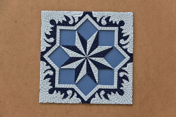 紙のカーペット!丸めて切った紙で繊細な模様を作るアート (5)