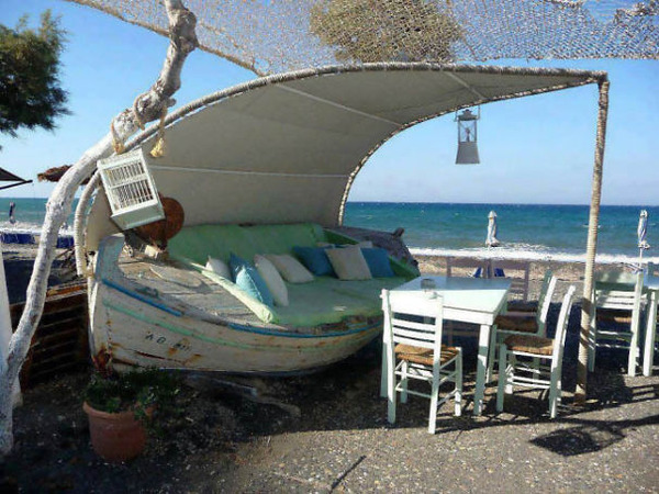 #6 Old Boat Turned Into An Outdoor Sofa