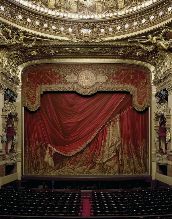 カーテン、ガルニエ宮パリ、フランス、2009
