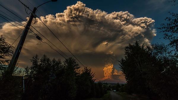 チリのカルブコ火山噴火 2015年 8