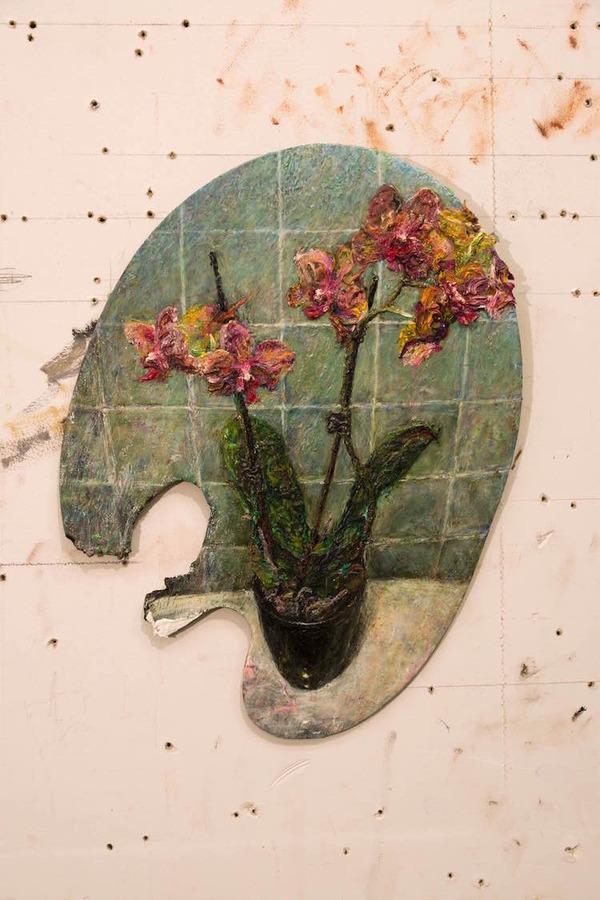 パレットをキャンバスにして描かれた絵画作品 (2)