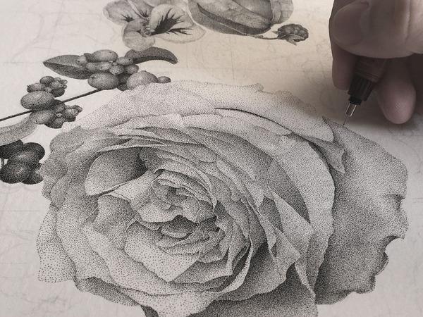 700万の点で描く!370時間をかけて制作された絵画『Autumn』 (8)