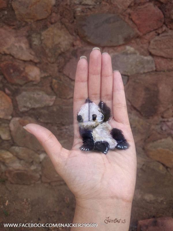 手のひらに乗っているみたいに物や動物の絵を描くよ! (3)