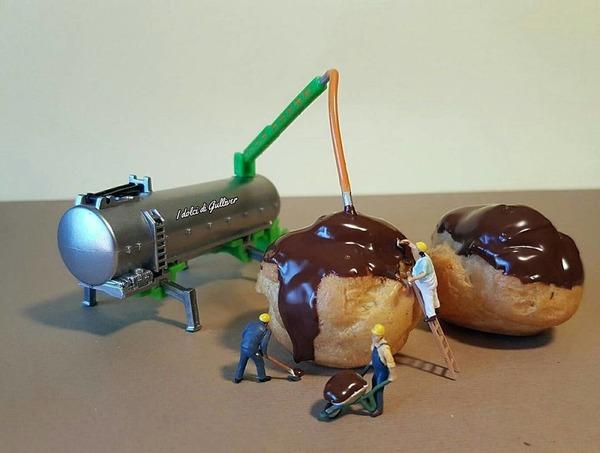 美味しそうな洋菓子で作るミニチュアアート (13)
