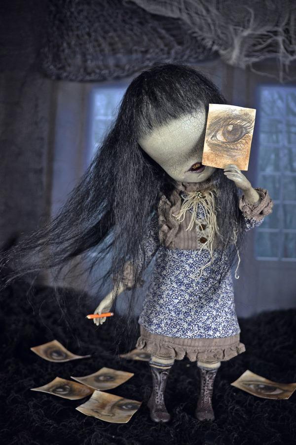 キモカワ!?ポリマークレイ製の手作りクリーチャー人形 (7)