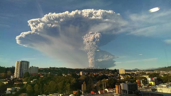 チリのカルブコ火山噴火 2015年 11