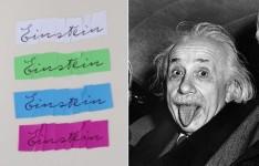 アインシュタインの筆跡からフォントを作る!Albert Einstein Font