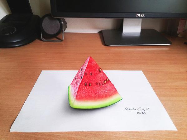 歪像によって浮き出て見える3D絵画アートが面白い! (1)