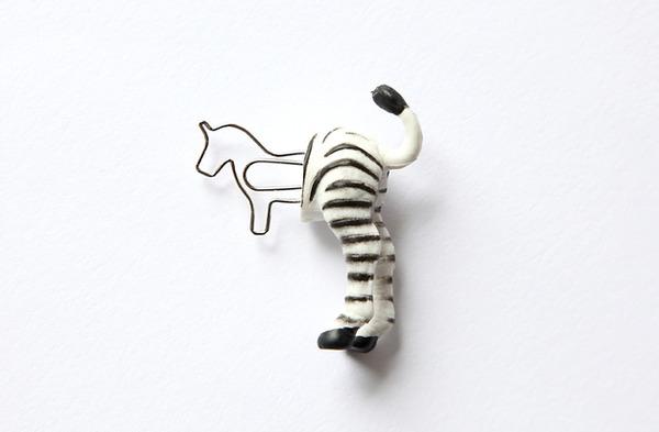 シンプルかわいい!面白い形をした動物の栞(しおり) (8)