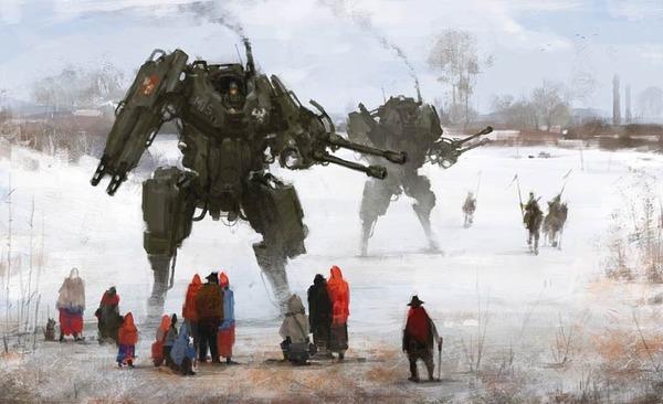 レトロな時代背景に機械的なSF要素。戦争を描いた空想世界 (13)