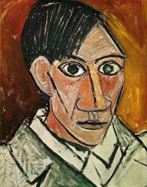 ピカソの自画像!15歳から90歳までの肖像画 (2)
