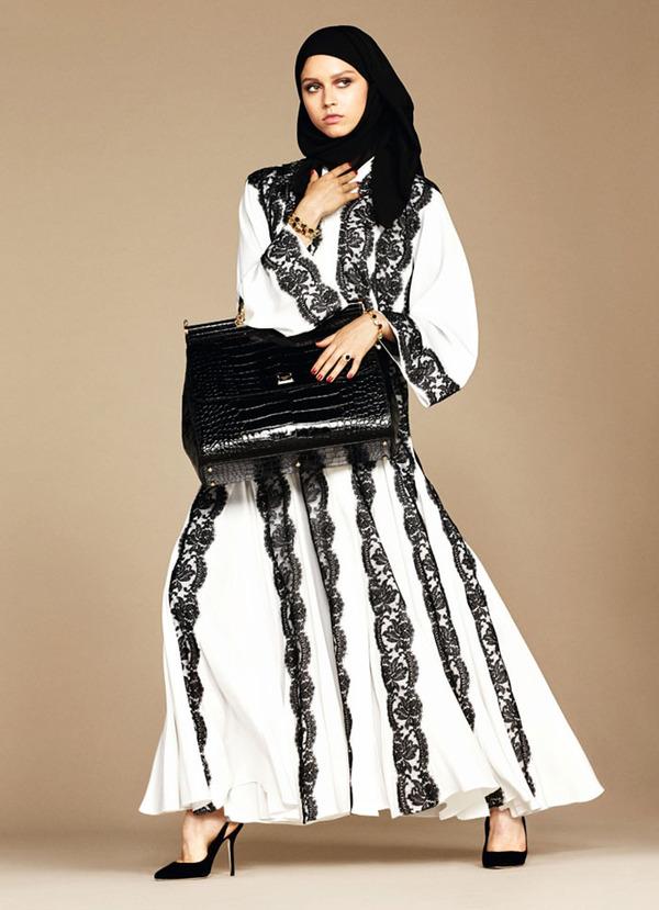 ヒジャブとアバヤのモダンファッション by ドルチェ&ガッバーナ (5)